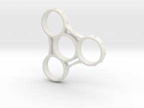 Triad Grip - Fidget Spinner in White Strong & Flexible