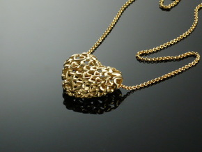Heart by Heart 35mm Pendant. in 18K Gold Plated