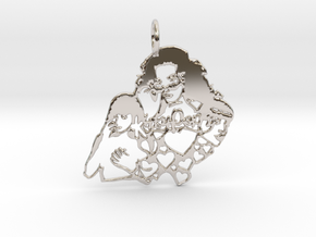 Katy Perry Fan Pendant in Platinum: Large