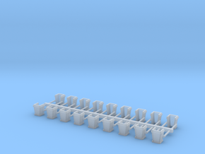 O Scale USMRR Stake Pockets in Smoothest Fine Detail Plastic