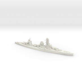 IJN Hyuga 1/700 in White Natural Versatile Plastic