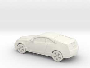 1/87 2007-13 Cadillac CTS V Coupe in White Natural Versatile Plastic