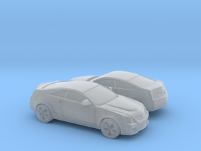 1/160 2X 2006-14 Cadillac CTS Coupe in Smooth Fine Detail Plastic