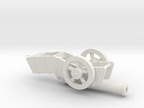 Cannon in White Natural Versatile Plastic