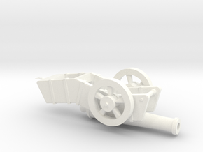 Cannon in White Processed Versatile Plastic