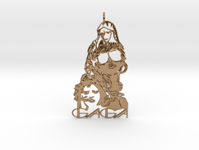 Lady Gaga Pendant - Exclusive Jewellery in Polished Brass