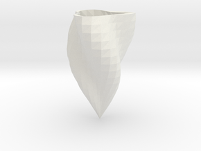 Low-poly supercurve vase in White Strong & Flexible: Medium