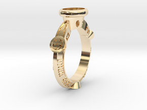 Ring Floris in 14k Gold Plated Brass: 5.5 / 50.25