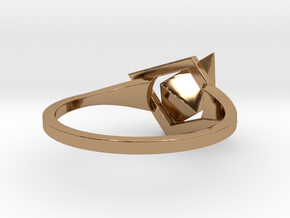 Female Ring-Crystal S B in Polished Brass: 3 / 44