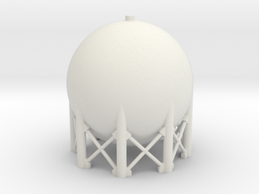 1:285 Spherical Tank in White Natural Versatile Plastic