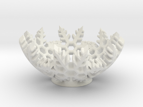 Snow Bowl in White Natural Versatile Plastic
