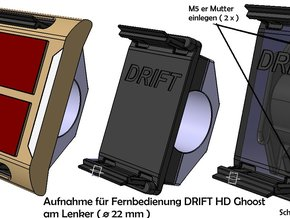 Drift Ghost- Fernbedienung  Aufnahme Lenker in Black Natural Versatile Plastic