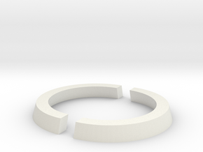 25mm to 32mm Cut Ring in White Natural Versatile Plastic