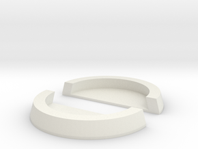 25mm to 32mm Cut Ring with Base in White Natural Versatile Plastic
