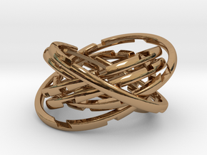 WASP Coaster in Interlocking Polished Brass