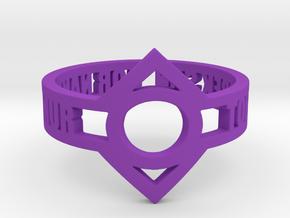 Indigo Lantern (Indigo Tribe) Oath Ring in Purple Processed Versatile Plastic: 12.25 / 67.125
