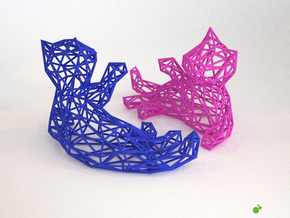 3D Lying Kitten in White Natural Versatile Plastic