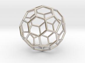 0024 Fullerene c60-ih Bonds/Truncated icosahedron in Platinum