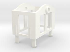Gnomy E-Lok, 1x cabin in White Processed Versatile Plastic