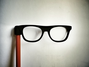 Glasses Penciltop: The Beatnik in Black Natural Versatile Plastic