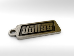 Dallas, Texas Keychain in Polished Bronze Steel