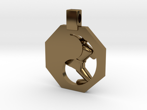 Pendant - Mens Yeop Chagi in Polished Bronze