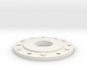 JConcepts Tribute Planetary Hub Detail With Hole in White Natural Versatile Plastic