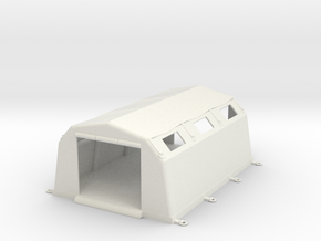 Inflatable Incident or Decon Shelter in White Natural Versatile Plastic: 1:76 - OO