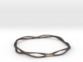 Thin macic bracelet in Polished Bronzed Silver Steel