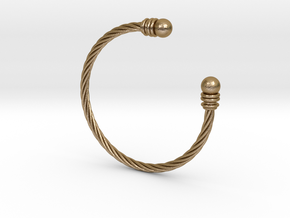 Bracelet ZXY Small in Polished Gold Steel