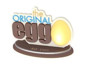 The Original Egg Logo in Glossy Full Color Sandstone