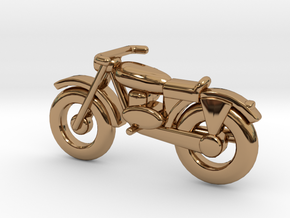 Motorcycle Pendant in Polished Brass