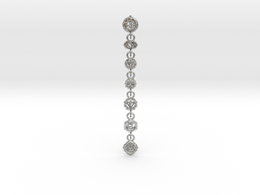 7 Chackras Buddist Pendant (Interlocking, 7,5 cm) in Natural Silver (Interlocking Parts)
