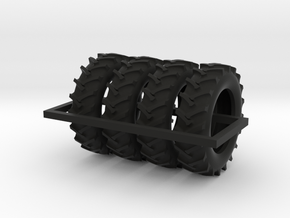 1/64 scale 520/85R46 R1 tractor tires X 4 in Black Natural Versatile Plastic