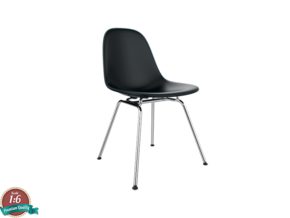 Miniature Eames Side Chair DSX - Charles Eames in White Natural Versatile Plastic