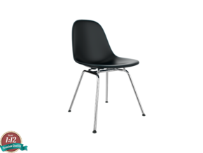 Miniature Eames Side DSX Chair - Charles Eames in White Strong & Flexible