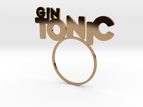 GinTonic [Cocktail LetteRing© Serie] in Polished Brass
