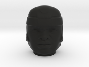Olmec Head  in Black Strong & Flexible: Small