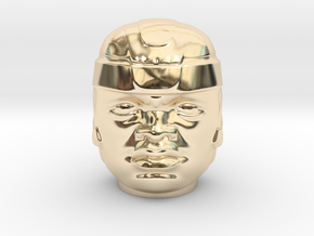 Olmec Head  in 14K Yellow Gold: Small