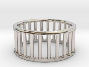 Greek/Roman Pillar Ring in Platinum