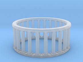 Greek/Roman Pillar Ring in Smooth Fine Detail Plastic