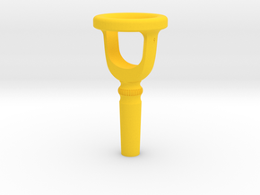 Tuba Cut-Away Mouthpiece Trainer - 1.30 Inch ID in Yellow Processed Versatile Plastic