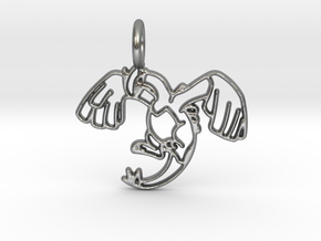 Lugia Pendant - Legendary Pokemon in Natural Silver