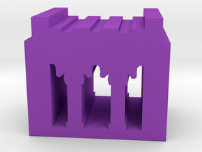Game Piece, Persian Palace in Purple Processed Versatile Plastic