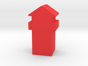 Game Piece, Roman Tower in Red Processed Versatile Plastic
