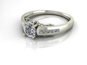 Detailed Solitaire 3 NO STONES SUPPLIED in Fine Detail Polished Silver