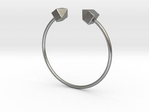 2 Houses Bracelet Medium Size D=65mm in Natural Silver: Medium