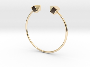 2 Houses Bracelet Medium Size D=65mm in 14K Yellow Gold: Medium