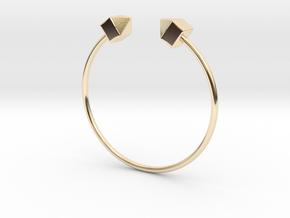 2 Houses Bracelet Medium Size D=65mm in 14K Yellow Gold: Medium