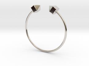 2 Houses Bracelet Medium Size D=65mm in Rhodium Plated Brass: Medium